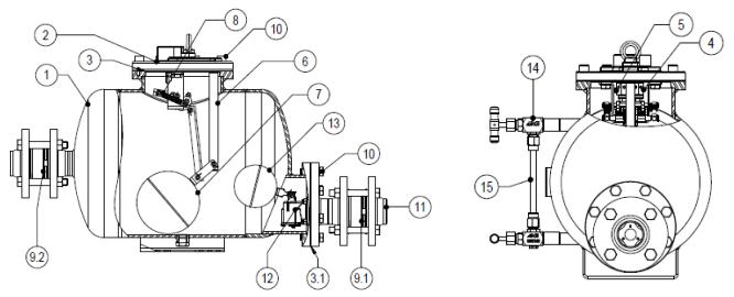 Cấu tạo Bẫy bơm nước ngưng áp suất Adca Model APST