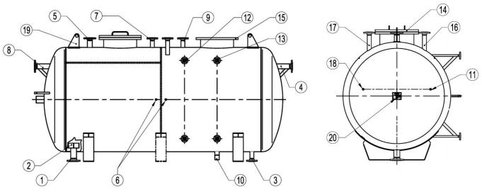 Cấu tạo của bồn nước cấp lò hơi Adca BFT