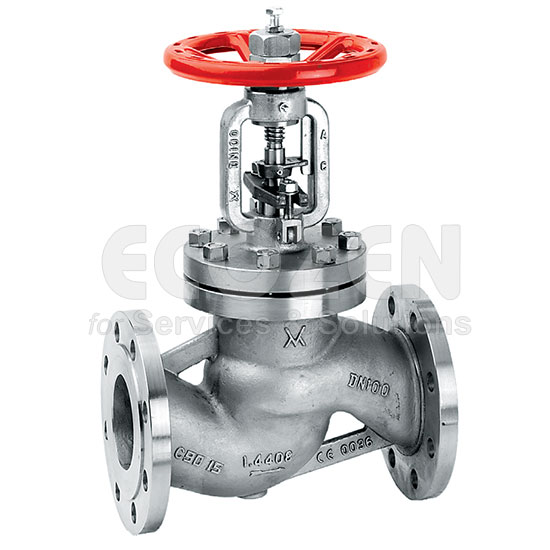 Stainless Stell Streamlined Flow Valve Outside Screw With Bellows 347