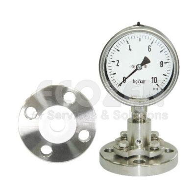 Đồng hồ áp suất nối bích + Teflon Nuova Fima Model DT123