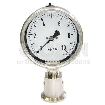 Đồng hồ áp suất màng nối clamp hãng New Flow Model DT106