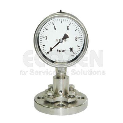 Đồng hồ áp suất màng nối bích Nuova Fima Model DT122