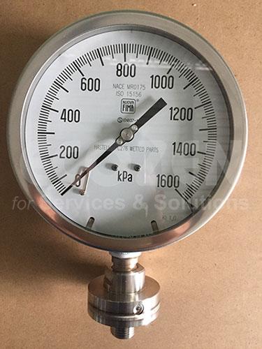 Hình ảnh thực tế Đồng hồ đo áp suất màng Nuova Fima