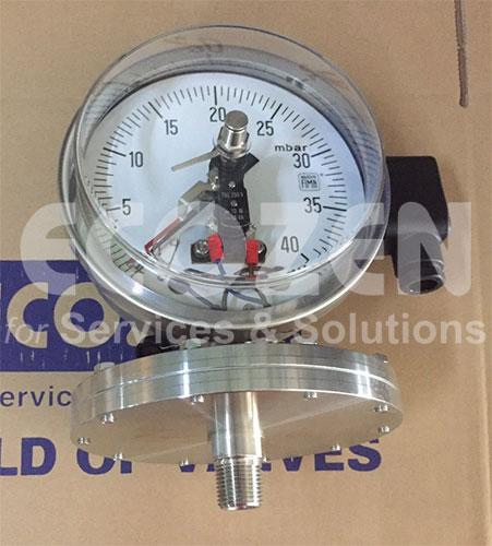 Đồng hồ đo áp suất 3 kim Nuova Fima Model MCE20