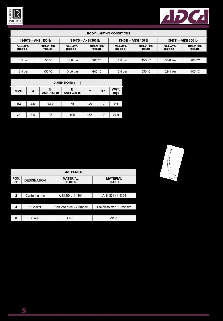 Lọc chữ T bằng thép đúc ADCA IS140T