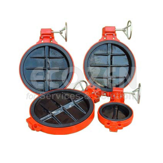 Van bướm tay quay - Butterfly Valve with Gear Box