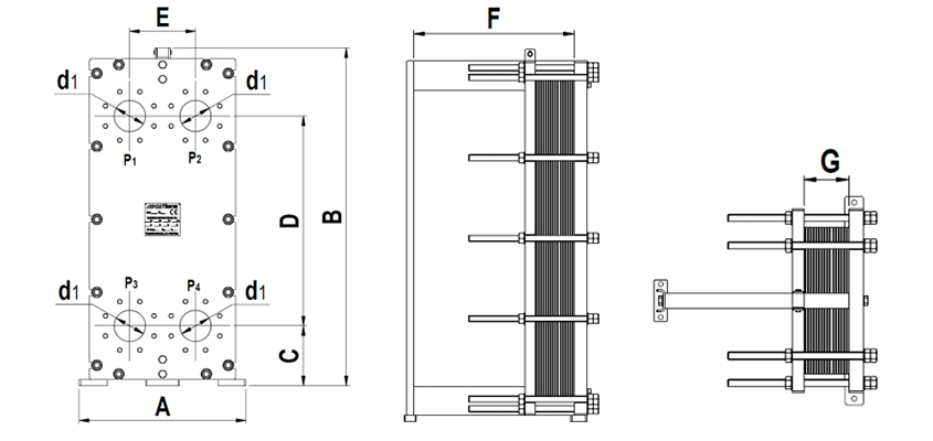 Cấu tạo của thiết bị trao đổi nhiệt dạng tấm
