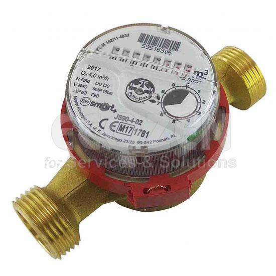 Đồng hồ đo lưu lượng nước nóng dạng cơ Model JS90-4-02