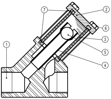 Cấu tạo của kính thủy SCK