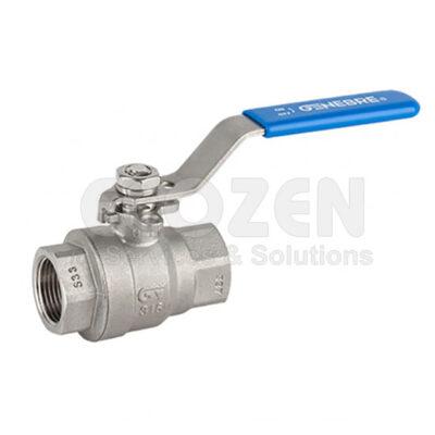 Van bi 2 mảnh nối ren 2014 Genebre - 2 pcs full bore ball valve