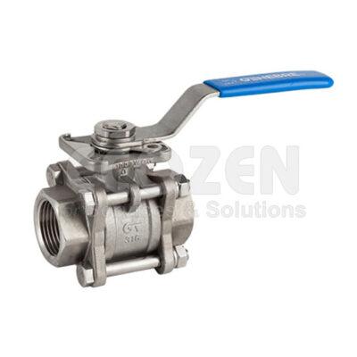 Van bi 3 mảnh inox nối ren Genebre 2025 3 pcs full bore ball valve