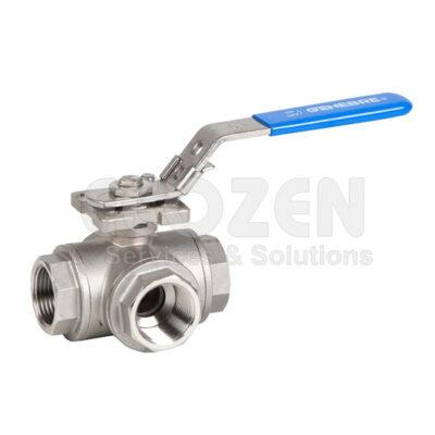 Van bi 3 ngã inox Genebre 2040 3 - Ways ball valve reduced bore