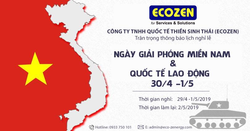 ecozen thong bao lich nghi le