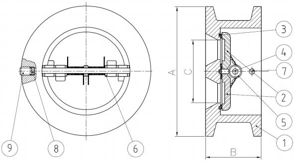 Cấu tạo của Van một chiều Genebre 2401