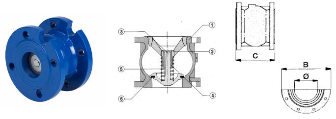 Cấu tạo của Van hút Genebre Model 2450