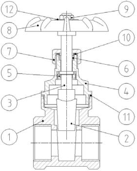Cấu tạo của Van cổng Genebre 3221