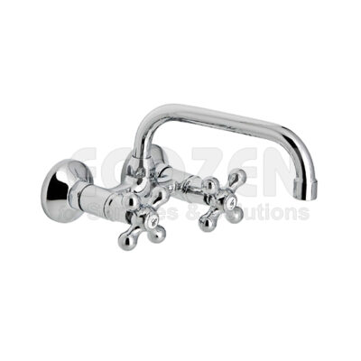 Vòi bếp nóng lạnh - 68550 09 45 66 WALL SINK MIXER WITH 11 cm HIGH TUBE, 18 cm SPOUT