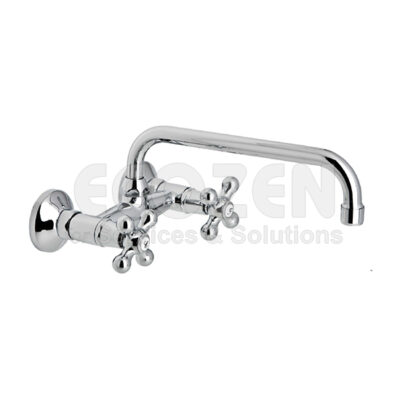 Vòi bếp nóng lạnh 68550 09 45 66 - WALL SINK MIXER WITH 15 cm HIGH TUBE, 24 cm SPOUT