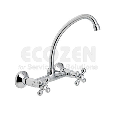 Vòi bếp nóng lạnh 68570 09 45 66 - 20 cm WALL SINK MIXER WITH SWAN NECK SPOUT