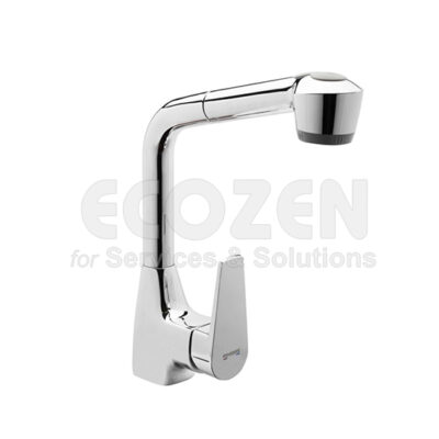 Vòi bếp nóng lạnh 64206 16 45 66 - SINGLE LEVER SINK MIXER WITH PULL-OUT SPRAYER
