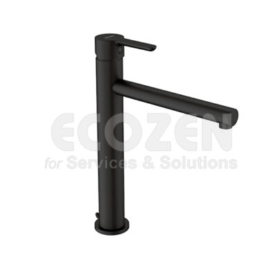 Vòi chậu sơn tĩnh điện Olso Black 65136 19 41 66 - HIGH SINGLE-HANDLE BASIN TAP