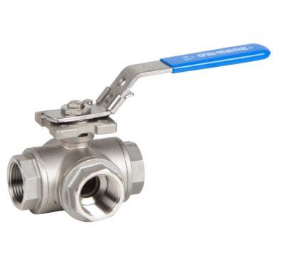 Ball valves 3 Ways ball valve reduced bore