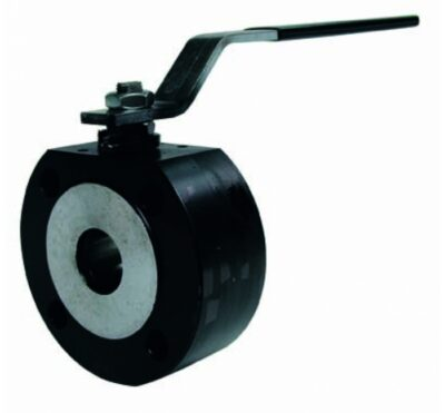 Wafer type 1 pc full bore ball valve mounting between flanges