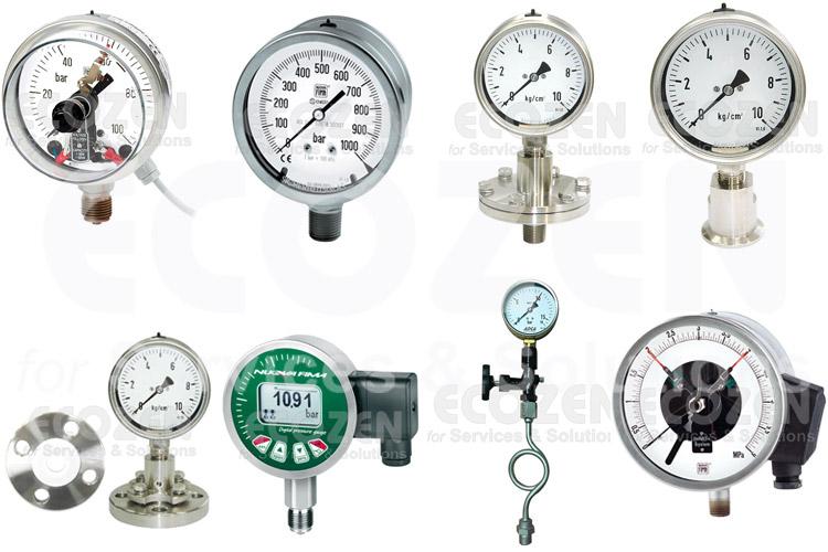 Tổng hợp các loại đồng hồ đo áp suất phổ biến nhất