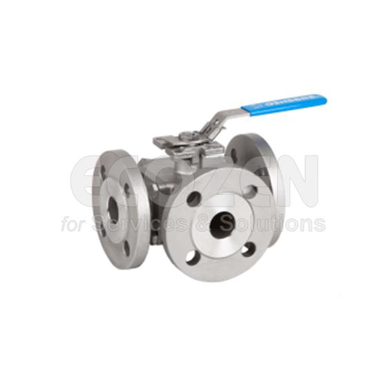 Ball valves 3 ways full bore