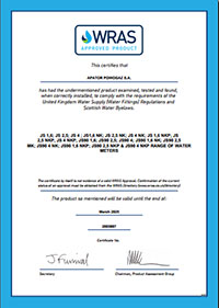 giấy chứng nhận hãng Apator