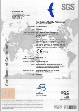 giấy chứng nhận hãng Adca