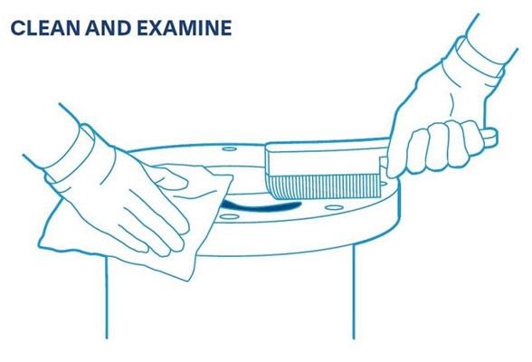 Quy trình lắp đặt gioăng: Làm sạch và kiểm tra
