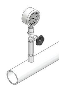 Đồng hồ áp suất không lắp ống siphon