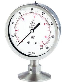 Đồng hồ áp suất màng nối clamp Nuova Fima Model SP