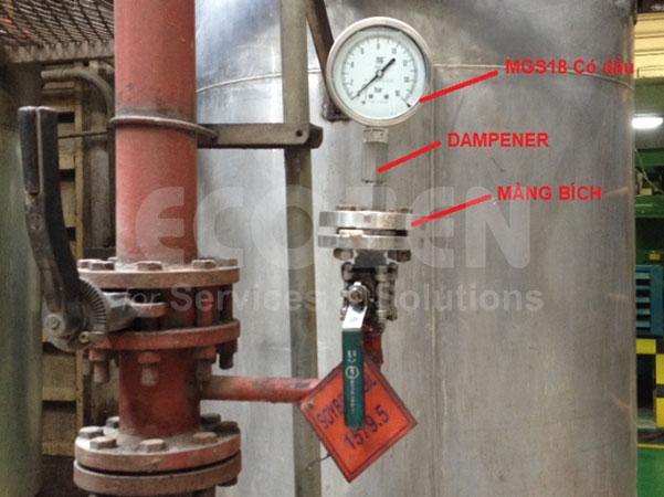 Đồng hồ áp suất màng + Bộ giảm chấn MP4/5