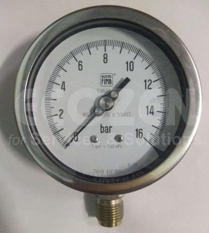 Đồng hồ áp suất Nuova Fima không dầu Model MGS18