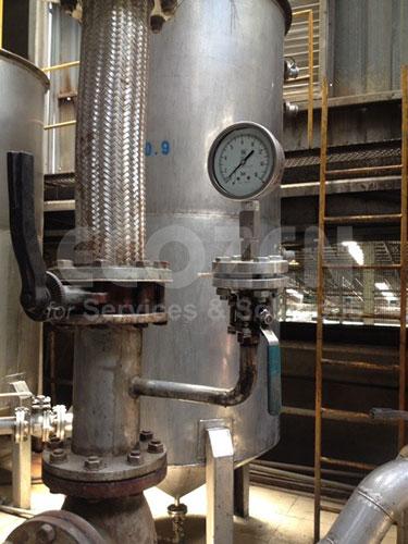 Lắp đặt Đồng hồ áp suất màng nối bích Nuova Fima