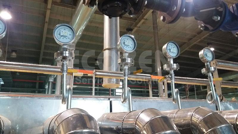 Lắp đặt đồng hồ áp suất màng nối ren Nuova Fima