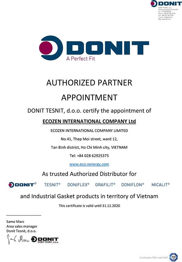 giấy ủy quyền Donit