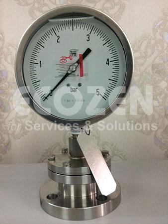 Đồng hồ áp suất màng nối bích Nuova Fima