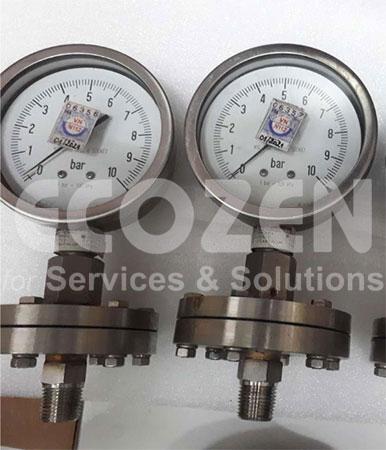 Đồng hồ áp suất màng nối ren Nuova Fima
