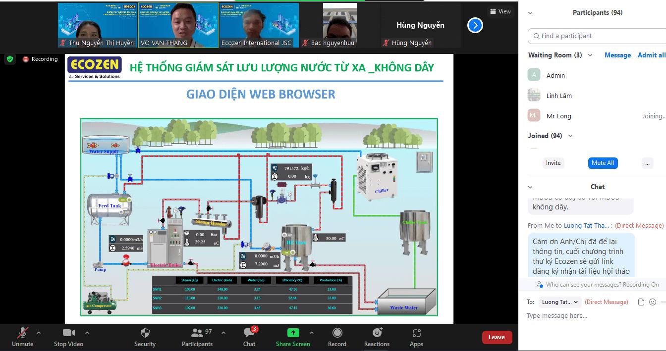 Hệ thống giám sát lưu lượng nước từ xa, không dây